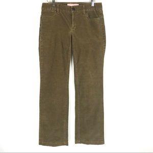 J Crew Corduroy Pants Size 4S Women Brown